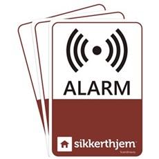 SikkertHjem� Tilbeh�r til alarmsikring - Pr�ventiv Skiltning