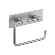 Toiletpapirholder - Toiletpapirholder med bagplade i rustfrit stål
