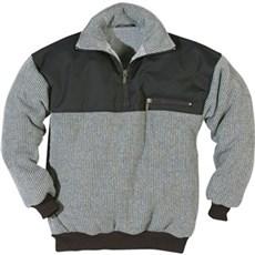 Kansas Sweatshirt - Håndv.sweater med fiberpelsfor Str. L