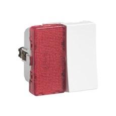 LK FUGA® Afbryder - Afbryder 1-pol med lampe 1 modul Hvid