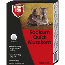 Protect Home Mus- og rottef�lder - Rodicum Quick Musekorn 160 g