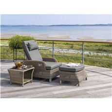 Outrium Havestol - Lido recliner loungestole inkl. skammel