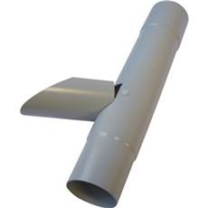 Plastmo Plast tagrende - Vandudviser m/klap 75 mm grå
