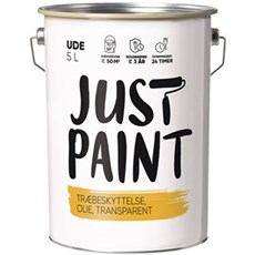 JUST PAINT Transparent - TRÆBESKYTTELSE 5 LTR. SORT
