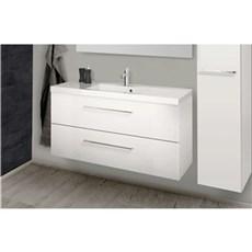 Scanbad Badeværelsessæt - Aura M/vask - Hvid Højglans