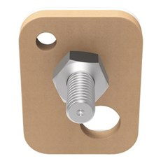 Tesa® Smart ophængningssystem - Firkantet klæbeskrue til murværk og sten Til 2,5 kg
