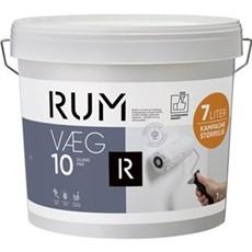 RUM Vægmaling - Glans 10, Hvid, 7 L.