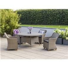 Outrium Havemøbelsæt - Roma Parma 4 stole