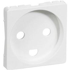 LK FUGA® Blænddæksel - Afdækning til stikkontakt med jord 1 modul Hvid