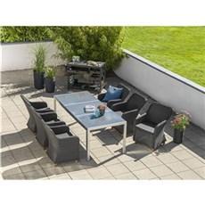 Outrium Havemøbelsæt - Alsace Parma sort 6 stole