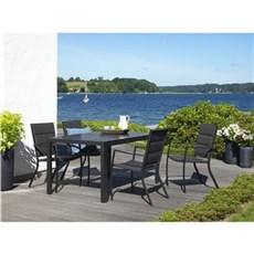 Outrium Havemøbelsæt - Toscana/Bordeaux 4 stole