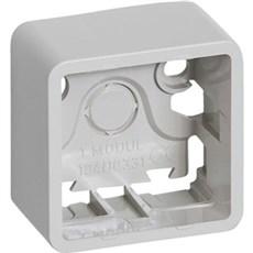 LK FUGA® Stikkontakt - BASELINE underlag 1 modul Lysegrå