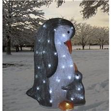 VELI LINE Julebelysning ude - Akryl Pingvin Mor & Baby