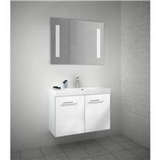Scanbad Badeværelsessæt - MULTO+  baderumsmøbel m/Uno vask 80 CM. - HVID HØJGLANS