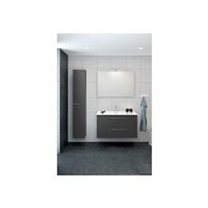 Scanbad Badeværelsessæt - MØBELPAKKE UNIT M/2SK, VASK, SPEJL 100 CM. - GRÅ