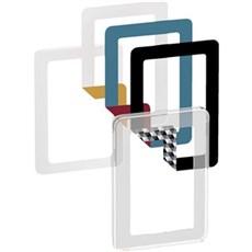 LK FUGA® Stikkontakt - CHOICE designramme 1½ M Transp.+ 6 farvevalg