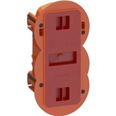 LK FUGA® Forfradåse - AIR SLIM forfradåse 2½ modul, 49 mm dyb, IP40, vindtæt Orange