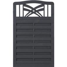 Plus Træhegn - Rondo grundmalet antracit 90x142/146 cm