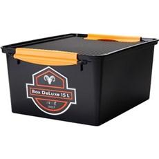 Plast1 Plastkasse - Systembox de luxe 15 ltr. sort
