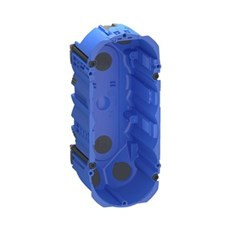 LK FUGA® Forfradåse - AIR forfradåse 2½ modul, 49 mm dyb, IP40, vindtæt Blå