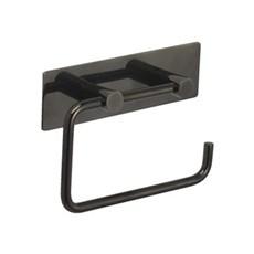 Toiletpapirholder - Toiletpapirholder med bagplade i black chrome