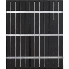 PLUS Træhegn - Port Hegn m/stålbånd 150x180 cm Trykimprægneret grundmalet sort SORT