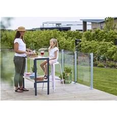 Plus Hegn nem vedligehold - Glashegn klart glas m/ silketryk 90x91 cm Med silketryk