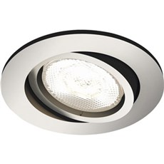 Philips Skinnespot - SHELLBARK recessed nickel 1x4.5W SELV