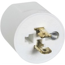 LK® Rosetmateriel Stikprop - Lampestikprop uden jord  2P U/JORD HVID