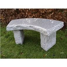 P&N Granitbænk - Buet Granit bænk