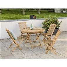 Outrium Havemøbelsæt - Syros 4 stole