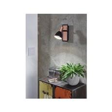 Eglo Spotlampe - BARNHAM SPOT LED GU10 SORT/KOBBER 1L