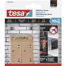 Tesa® Smart ophængningssystem - Firkantet klæbeskrue til murværk og sten 10 kg
