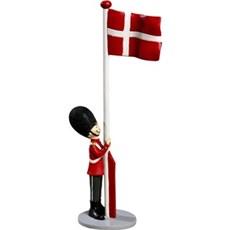 Det Gamle Apotek Dekorationsfigur - Nostalgisk soldat med flag H: 31 cm