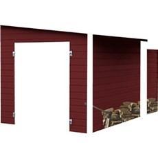 Plus Træredskabsskur - Modul redskabsrum inkl. brændely m/skråt tag - 8,6 + 3,5 m² - ubehandlet