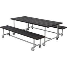 PLUS Bord & bænkesæt - Urban Picnic Plankesæt 207 cm Består af:  Bord og 2 Bænke Trykimprægneret grundmalet sort