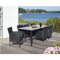 Outrium Havemøbelsæt - Cannes/Toscana 6 stole sort