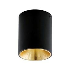 Eglo Loftlampe - EGLO POLASSO Sort/guld