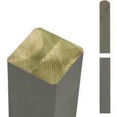 PLUS Stolper - Trykimprægneret gråbrun omlimet 9x9 cm 98 cm