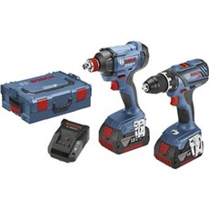 Bosch Akku bore-skruemaskine - GSR18V-28/GDX18V-180 2X4AH L-BOX