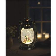 VELI LINE Dekorativ jul - Water Glitter lanterne med julemand og rensdyr
