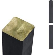 PLUS Stolper - Trykimprægneret antrazit omlimet 7x7 cm