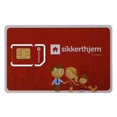 SikkertHjem™ Tilbehør til alarmsikring - SMS-KORT (12 MDR.)