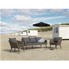 Outrium Havemøbelsæt - Torino sofasæt kubo grey