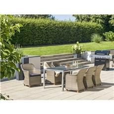 Outrium Havemøbelsæt - Alsace Parma kubo 6 stole