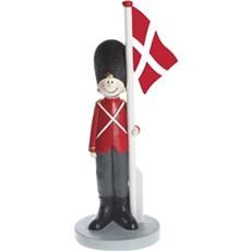 Det Gamle Apotek Dekorationsfigur - Nostalgisk soldat med flag