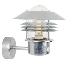 Nordlux Væglampe - E27 stål m/sensor