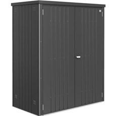 Biohort Udendørs opbevaring - REDSKABSRUM STR. 150  1,29 M2 Mørkegrå Metallic