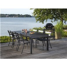 Outrium Havemøbelsæt - Toronto/Bari 6 stole sort