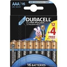 Duracell AAA batterier - Ultra Power AAA 12+4pk